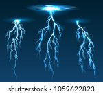 vector lightning. electric... | Shutterstock .eps vector #1059622823