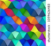 abstract 3d colorful geometric... | Shutterstock .eps vector #1059626483