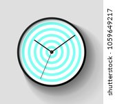 simple striped wall clock in... | Shutterstock .eps vector #1059649217