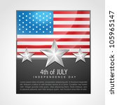 american independence day 4th... | Shutterstock .eps vector #105965147