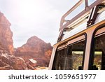 roof of a tourist suv against... | Shutterstock . vector #1059651977
