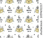 be brave   cute hand drawn...   Shutterstock .eps vector #1059652217