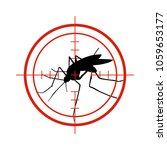 mosquito in red target. anti... | Shutterstock .eps vector #1059653177