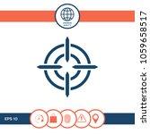 aim icon symbol | Shutterstock .eps vector #1059658517