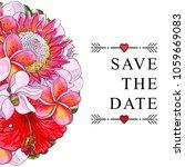 wedding invitation with...   Shutterstock .eps vector #1059669083