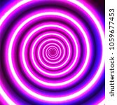 neon spiral. abstract glowing... | Shutterstock .eps vector #1059677453