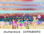 abstract floral oil color... | Shutterstock . vector #1059680093