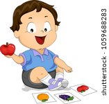 illustration of a kid boy... | Shutterstock .eps vector #1059688283