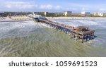 daytime cocoa beach pier aerial ... | Shutterstock . vector #1059691523