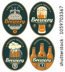 set of vector labels or banners ... | Shutterstock .eps vector #1059703367