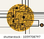 bitcoin cryptocurrency digital... | Shutterstock .eps vector #1059708797