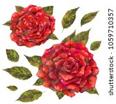 watercolor and mixed media set... | Shutterstock . vector #1059710357