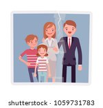 family reunion portrait. a... | Shutterstock .eps vector #1059731783