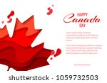 happy canada day vector holiday ... | Shutterstock .eps vector #1059732503