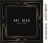 vector card. art deco style.... | Shutterstock .eps vector #1059738047