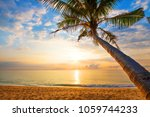 seascape of beautiful tropical... | Shutterstock . vector #1059744233