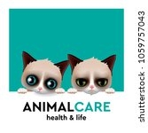 animal care hospital concept ... | Shutterstock .eps vector #1059757043