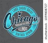 chicago tee shirt design  ... | Shutterstock .eps vector #1059808727