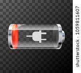 low level bright glossy battery ... | Shutterstock . vector #1059811607