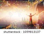in rhythm of modern business... | Shutterstock . vector #1059813137