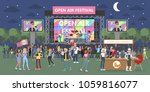 open air festival at night with ...   Shutterstock .eps vector #1059816077