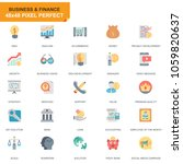 simple set business and finance ... | Shutterstock .eps vector #1059820637