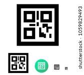 qr code flat icon. vector line...   Shutterstock .eps vector #1059829493