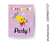 fruit summertime party poster... | Shutterstock .eps vector #1059847727