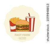 fast food icons. vector. set... | Shutterstock .eps vector #1059848813