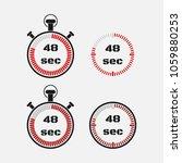 timer 48 seconds on gray... | Shutterstock .eps vector #1059880253