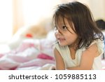 Small photo of Portrait of kid with smiling, Happiness time of life