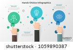 three hands with index finger...   Shutterstock .eps vector #1059890387