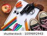 overhead view of school...   Shutterstock . vector #1059892943