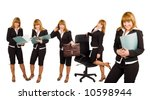 businesswoman working day... | Shutterstock . vector #10598944