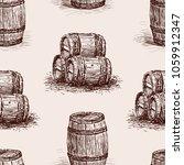 pattern of the wine barrels... | Shutterstock .eps vector #1059912347