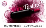 horizontal banner with wine... | Shutterstock .eps vector #1059913883