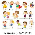 illustration of simple kids... | Shutterstock . vector #105993923