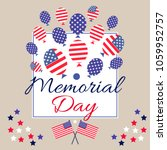 memorial  day    template ... | Shutterstock .eps vector #1059952757