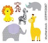 vector illustration of a cute...   Shutterstock .eps vector #1059953087