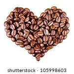 Heart From Coffee Beans...