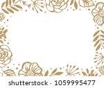 flower frame template for... | Shutterstock .eps vector #1059995477