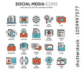 communication. social media.... | Shutterstock .eps vector #1059997577