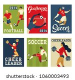 football soccer players and... | Shutterstock .eps vector #1060003493