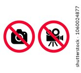 no camera and video red... | Shutterstock .eps vector #1060024877