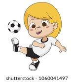 cartoon soccer kid.vector and... | Shutterstock .eps vector #1060041497