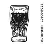 glass of beer isolated on white ... | Shutterstock .eps vector #1060049213