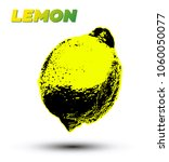 lemon. pop art style lemon... | Shutterstock .eps vector #1060050077