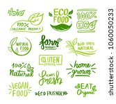 set of green labels and badges... | Shutterstock .eps vector #1060050233