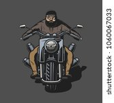 motorcycle chopper  front ... | Shutterstock .eps vector #1060067033