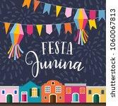 festa junina  brazilian june... | Shutterstock .eps vector #1060067813